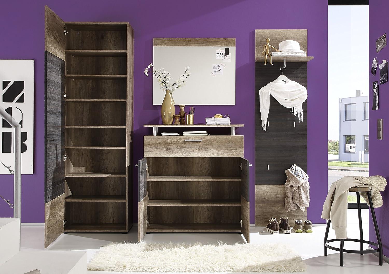 Trendteam smart Polo, living Garderobe Garderobenpaneel Polo, smart 50 x 191 x 26 cm in Eiche Monument  Dekor f56cd8