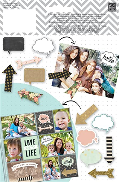 me /& my BIG ideas Mambi Shapes Bright Arrows and Speech Bubbles Scrapbooking ...