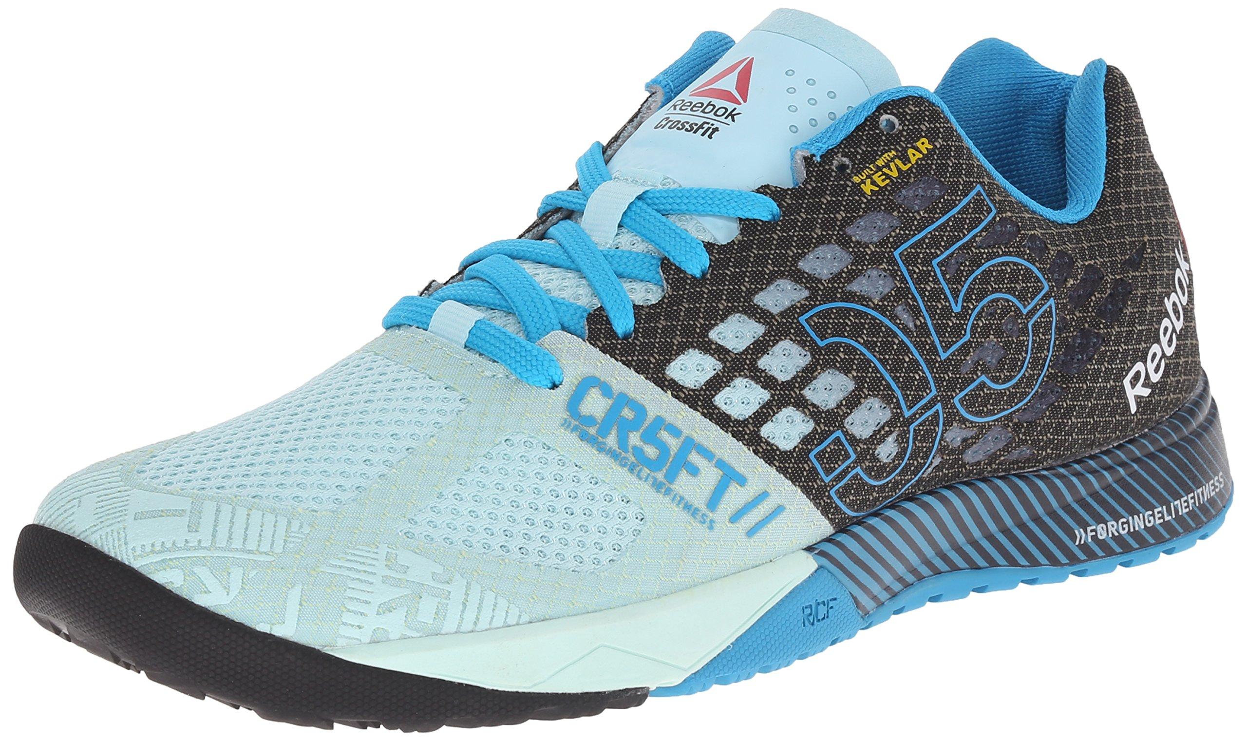 Reebok Women's Crossfit Nano 5.0 Training Shoe, Cool Breeze/Black/Far Out Blue, 5 M US