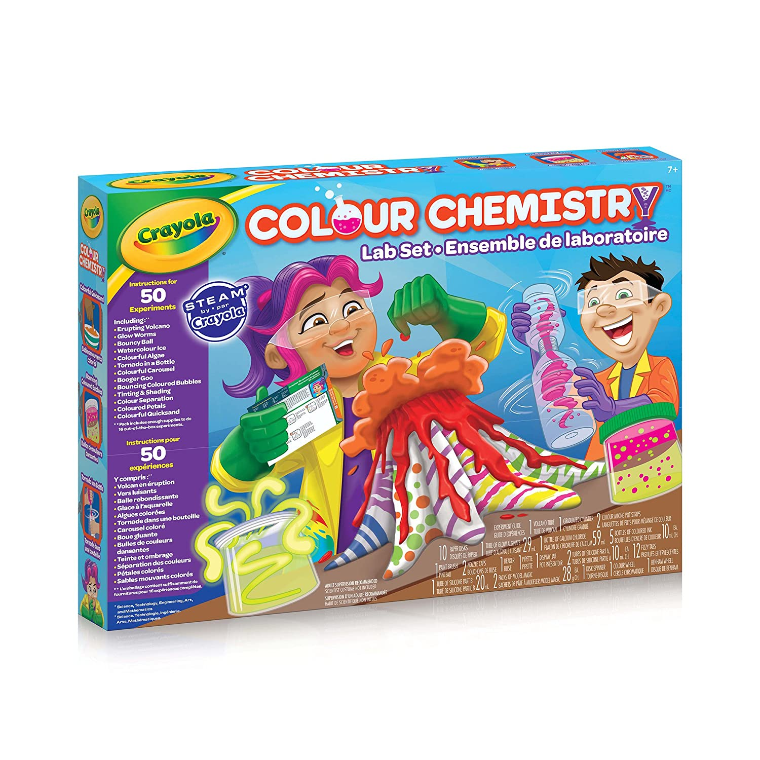 Crayola Colour Chemistry Lab Set Steam Diy Science Projects Gift Basic Electronics Toys For Kids Snap Circuits Jr Sc 100 Boys And Girls Ages 8 9 10 Up Holiday Arts Craft