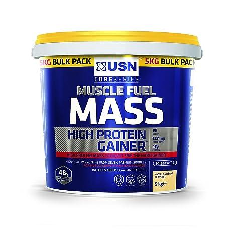 USN masa muscular Combustible masa muscular y ganancia Shake polvo ...