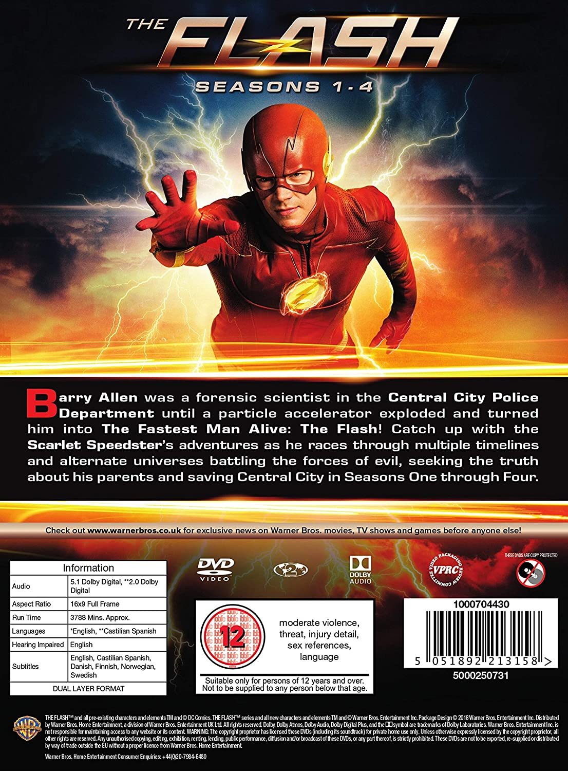 THE FLASH 1-4 [DVD] [2018]: Amazon co uk: Various: DVD & Blu-ray