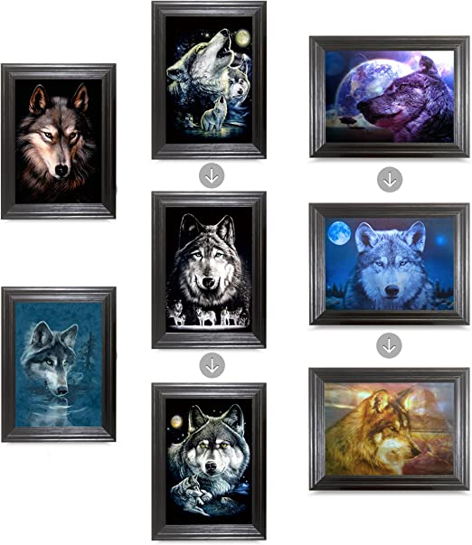 SEASONAL UNFRAMED Holographic Wall Art-POSTERS That FLIP and CHANGE images-Lenticular Technology Artwork--MULTIPLE PICTURES IN ONE--HOLOGRAM Images Change--Technology by THOSE FLIPPING PICTURES