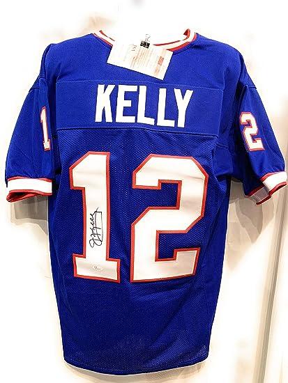 36aba6453 Jim Kelly Buffalo Bills Signed Autograph Blue Custom Jersey JSA Witnessed  Certified