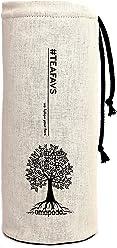 amapodo Cover Flaschen-Hülle Schutzhülle Beige für Trinkflaschen mit Ø von 6-8cm