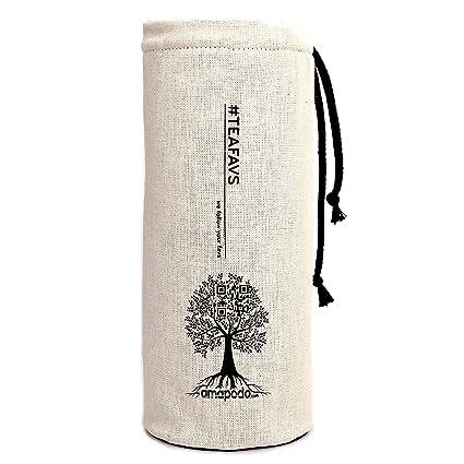 amapodo Cover Funda Protectora para Botellas Beige con Ø de 6-8cm