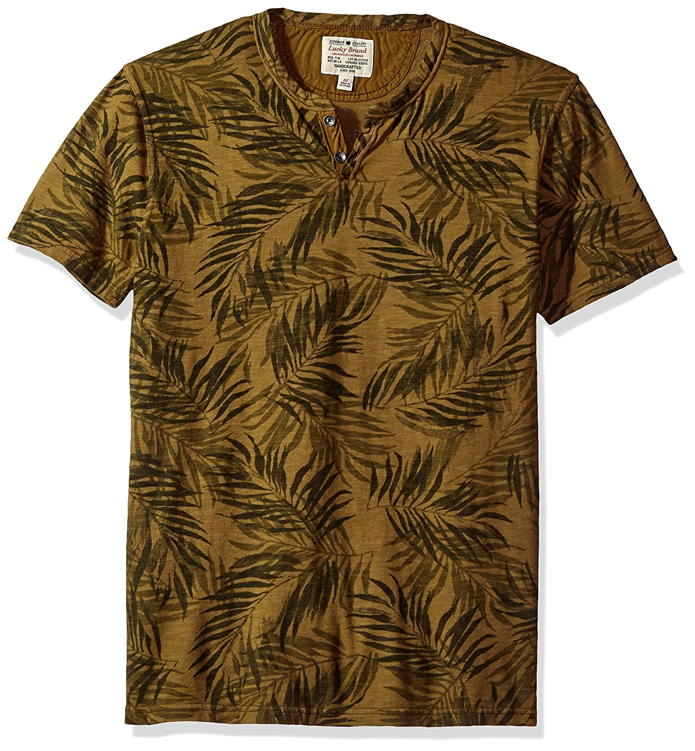Lucky Brand Mens Novelty Notch Neck Top