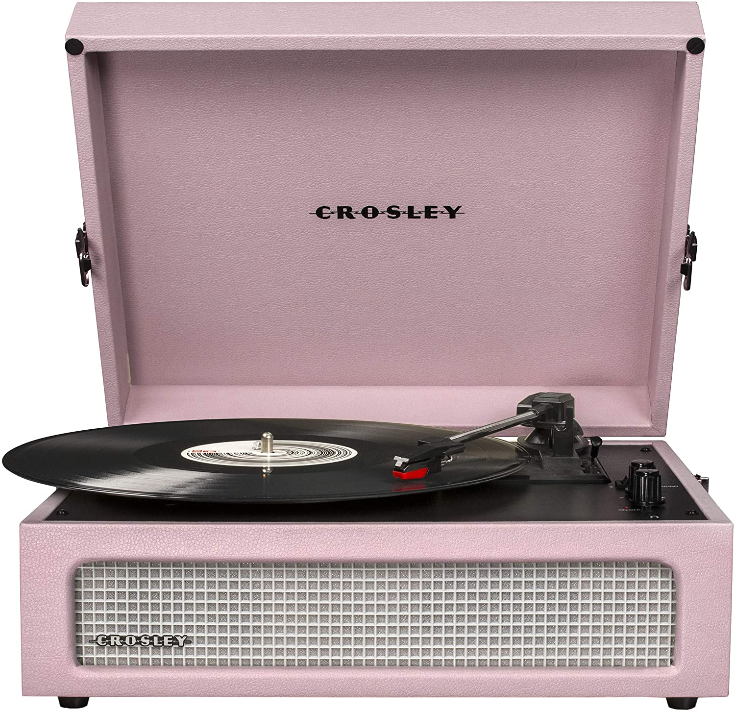 Amazon Com Crosley Cr8017a Am Voyager Vintage Portable Turntable With Bluetooth Receiver And Built In Speakers Amethyst Electronics