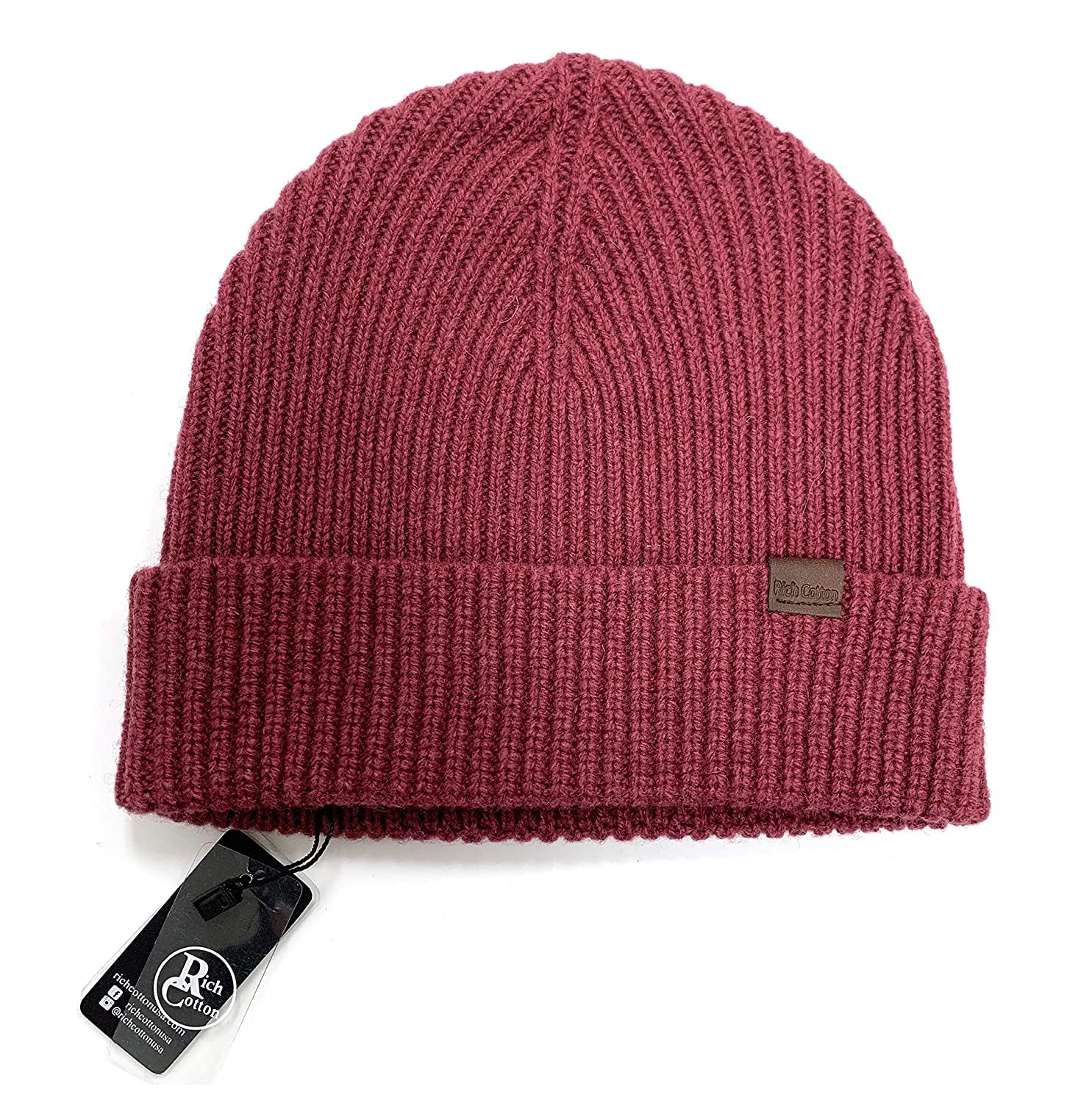 453f268c3edc7 Rich Cotton Merino Wool Skull Beanie Men Daily Warm Soft Winter Hat 100%  Merino Wool Knit Cuff Beanie Watch Cap Fisherman