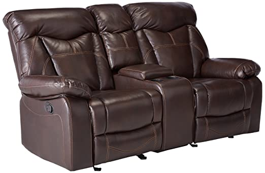 Amazon Coaster Zimmerman Casual Dark Brown Reclining Love Seat Beauteous Zimmermans Furniture Model