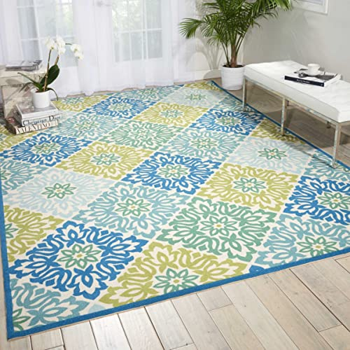 Nourison Wav01 Sun Shade Marine Rectangle Area Rug, 10-Feet by 13-Feet 10 x 13