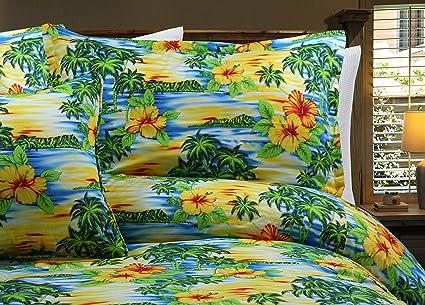 Hawaiian Tropical Island Paradise Duvet Covers Bedding Sets Floral Pillowcases