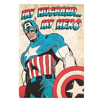 Amazon marvel captain america husband birthday card office marvel captain america husband birthday card bookmarktalkfo Images