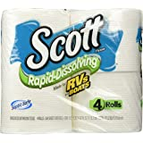 Scott Rapid Dissolve Toilet Tissue (Pack of 4 rolls)