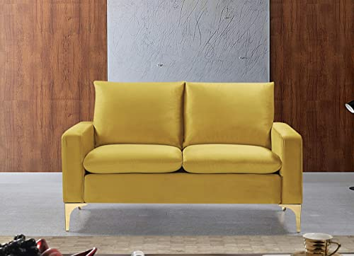 Container Furniture Direct Carrie Ultra Modern Living Room Velvet Upholstered Tufted Loveseat