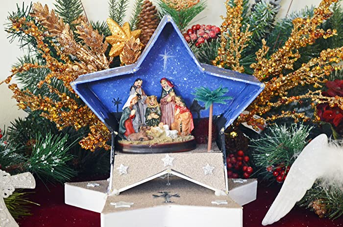 Christmas Diorama Ornaments.Amazon Com Nativity Nativity Scene Nativity Diorama