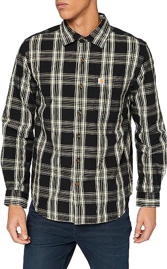 Carhartt Long-Sleeve Essential Open Collar Shirt Plaid Camisa para Hombre