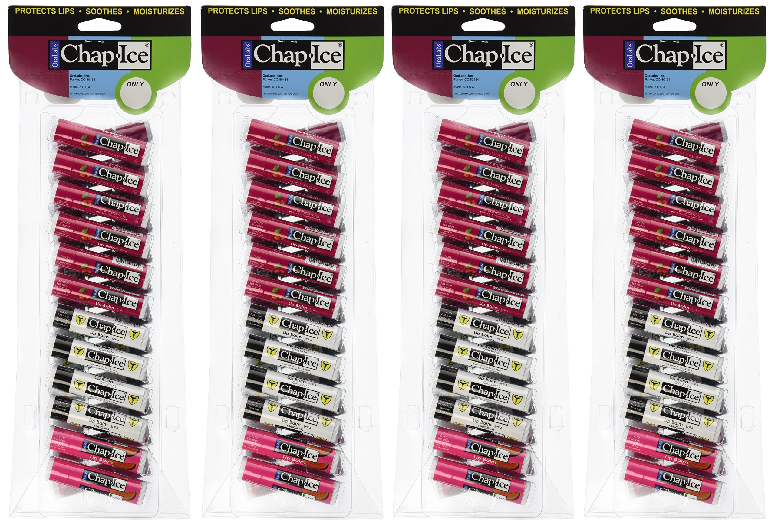 Chap-Ice Assorted Lip Balm - 24 ct (Pack of 4)