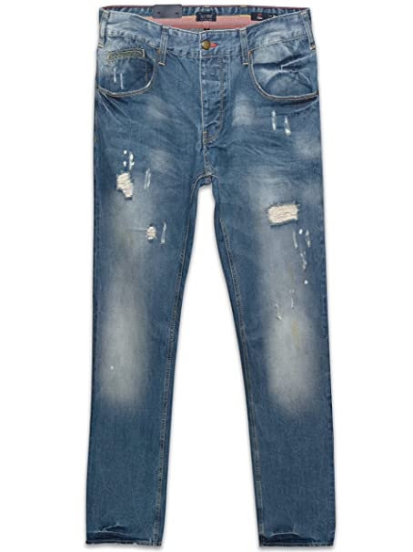 Armani Jeans Denim J23 Slim Fit Jeans Rip Effect Light Blue ...