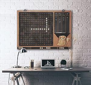 Tubibu Unique Wall Decor, Message Board, Convenient to Play Scrabble, Extraordinary Gift, Wall Decor, Wall Art