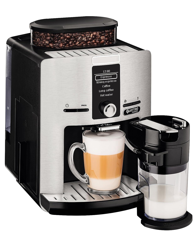 Krups Espresseria Quattro Force EA82FD10 Cafetera Automática, 1450 W, 1.7 L, Acero Inoxidable, Plateado: Amazon.es: Hogar