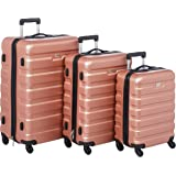 Track Hardside spinner luggage Set of 3 pieces with 3 digit number Lock