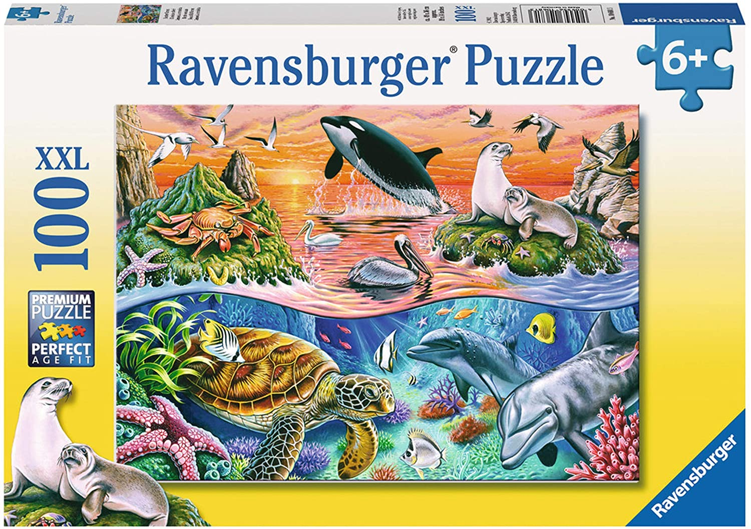 Amazon Com Ravensburger Beautiful Ocean 100 Piece Jigsaw Puzzle For Kids Every Piece Is Unique Pieces Fit Together Perfectly Toys Games