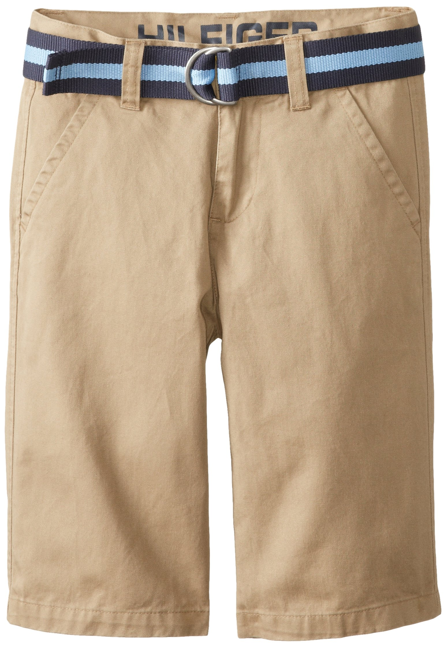 Tommy Hilfiger Big Boys' Belted Flat-Front Short, TH Chino, 10