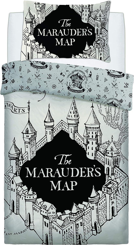 """Harry Potter /""""La carte du maraudeur/"""" Parure de couette double"""