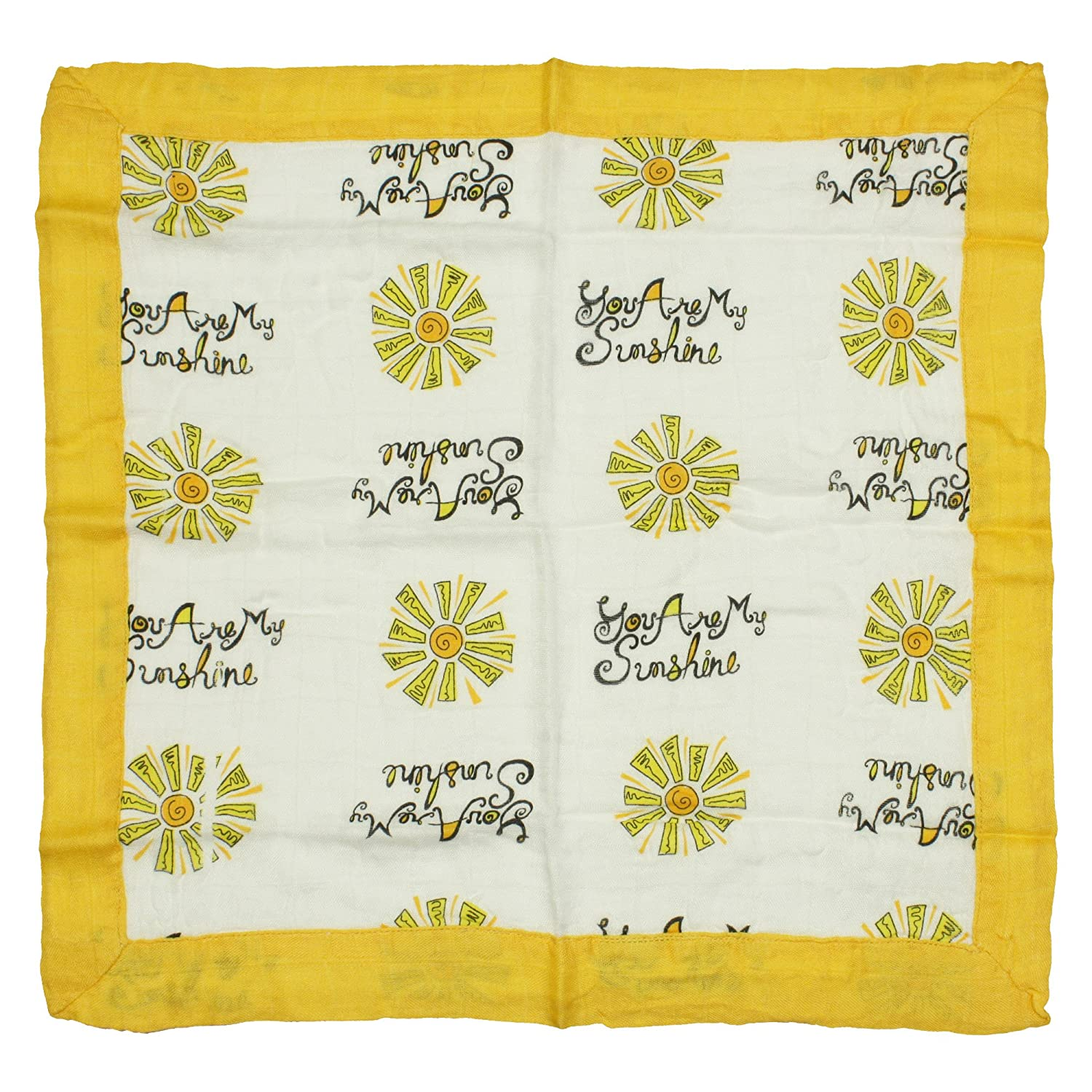 """Nicki's Diapers Bamboo Security Blanket, You are My Sunshine (15"""" x 15"""")"""