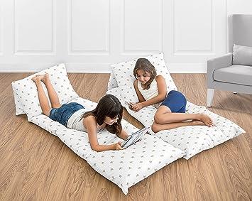 Amazon.com: Dorado y Blanco Star Kids Funda de almohada ...