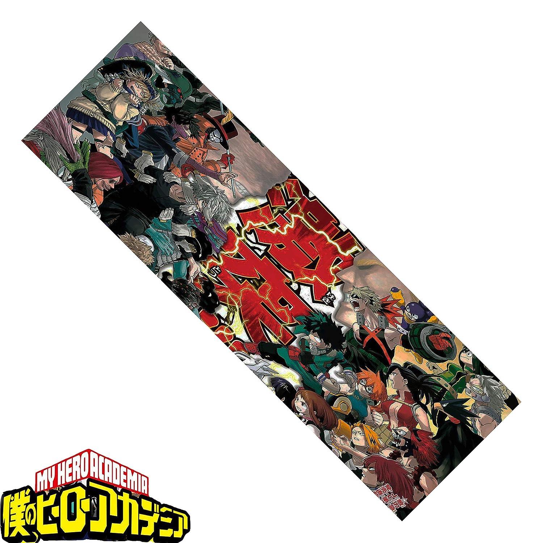 Araonstorm My Hero Academia Skateboard Grip Tape 33x9``, Midoriya Izuku Deku Skateboard Sandpaper,BOKU NO Skateboard Stickers