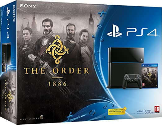 PlayStation 4 - Consola 500 GB, Color Negro + The Order: 1886 ...