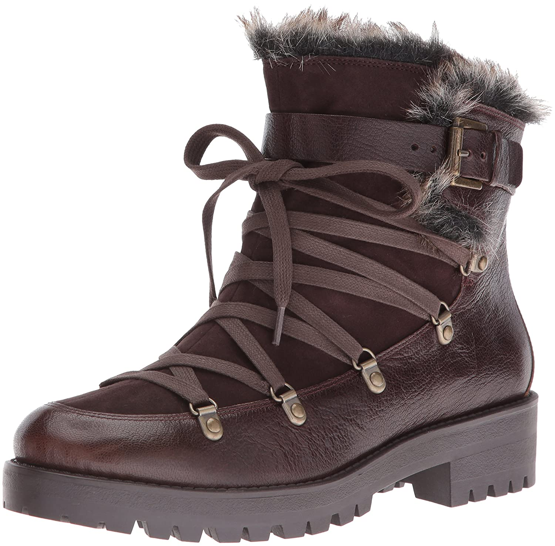 Nine West Women's Orynne Leather Boot B01EXYPQW0 7.5 B(M) US|Dark Brown