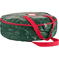 "ZOBER Wreath Storage Bag 30"" - Tear Resistant Material Storage Bag for Wreath Storage with Sleek Zipper, Featuring Transparent Card Slot 30"" L 30"" W 8"" H"