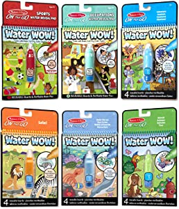Melissa & Doug On The Go Water Wow! 6-Pack (Sports, Occupations, Safari)
