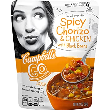 Amazoncom Campbells Go Soup Spicy Chorizo Chicken with Black