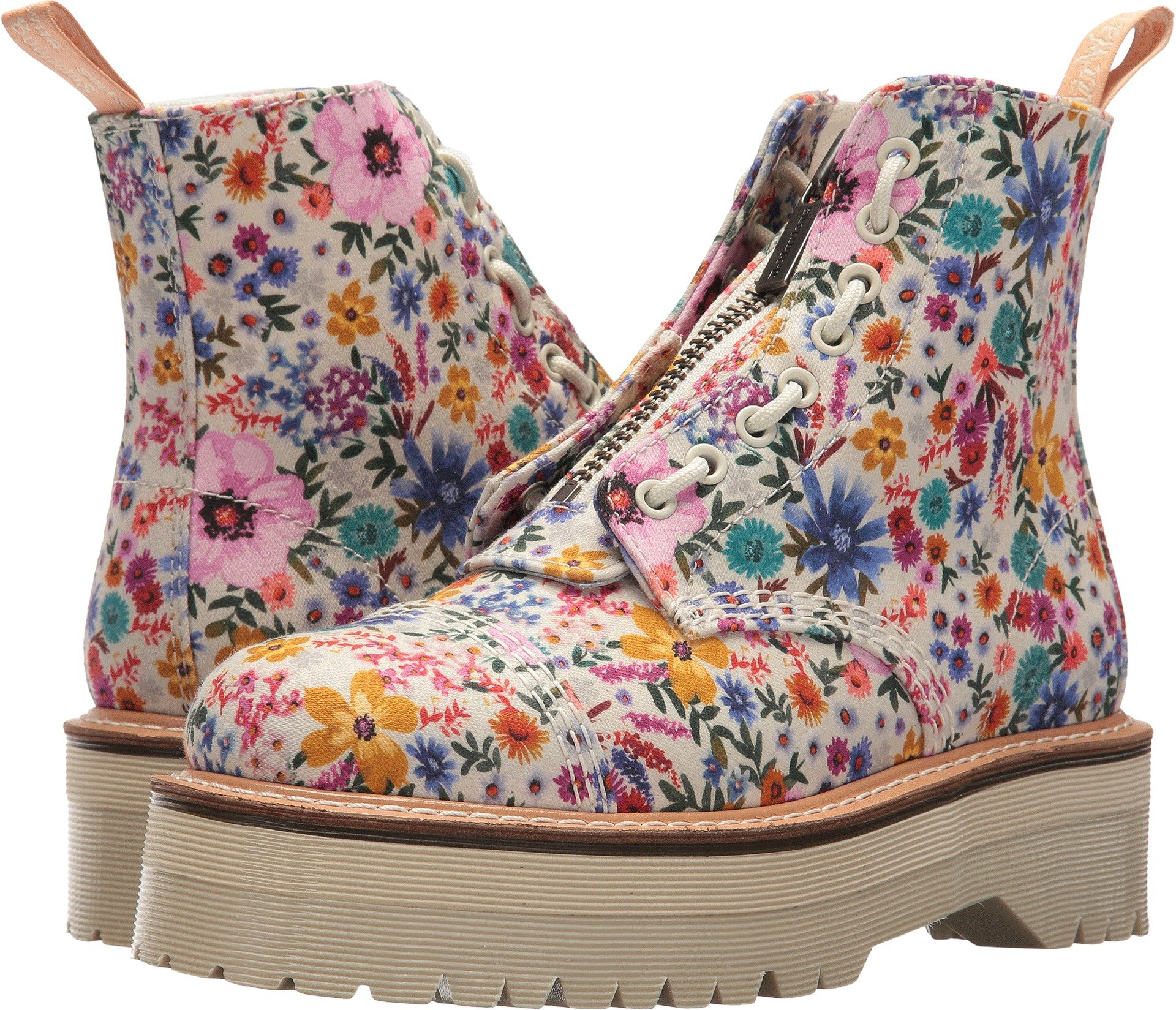Dr. Martens Women's Sinclair Wanderlust Bone/Mallow Pink Wanderlust Fine Canvas 6 M UK