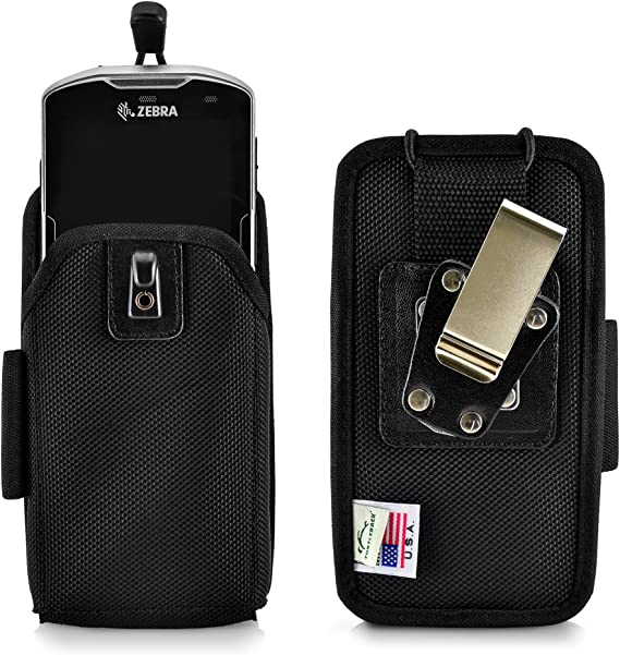 Golden Sheeps Carrying Case Compatible with Zebra TC51 TC56 Handheld Barcode Scanner Touch Mobile Computer Rugged Heavy Duty Cases with Metal Clip and Belt Loop