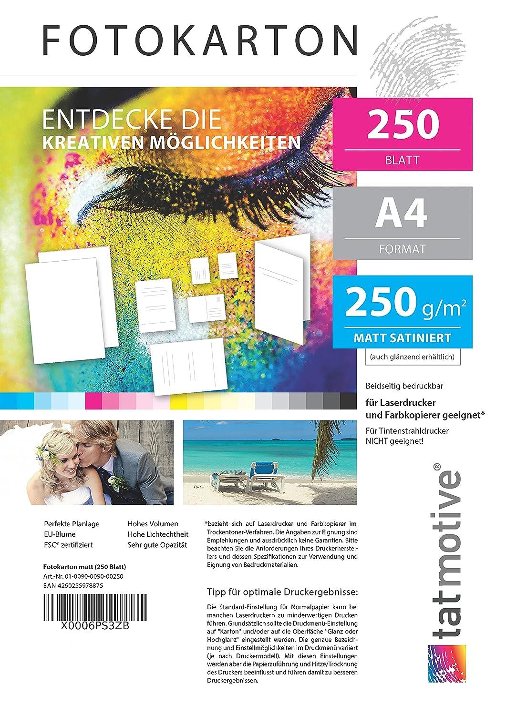TATMOTIVE F01M125 Fotokarton Fotopapier 250g matt weiß ...
