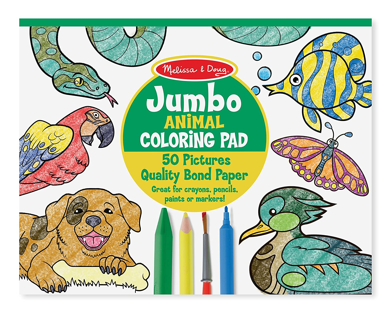 Amazon.com: Melissa & Doug Jumbo Coloring Pad - Animals: Melissa ...
