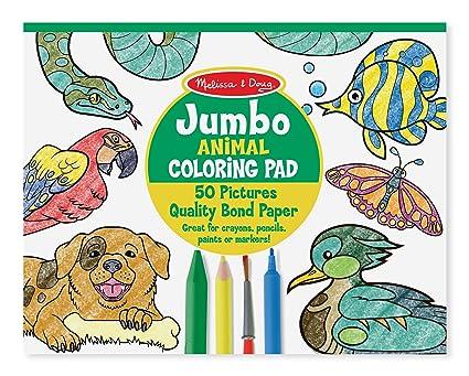 Amazon Com Melissa Doug Jumbo Coloring Pad Animals Melissa