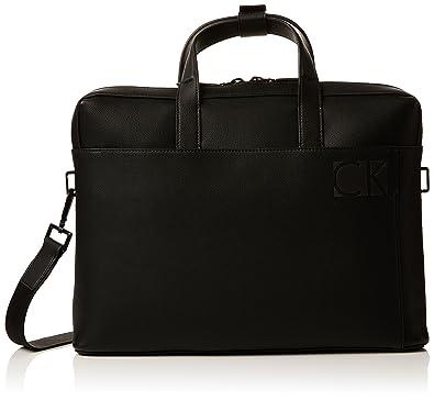Calvin Klein Hi-profile Slim Laptop Bag, Sacs pour ordinateur portable homme, (Black), 6x28x38 cm (B x H T)