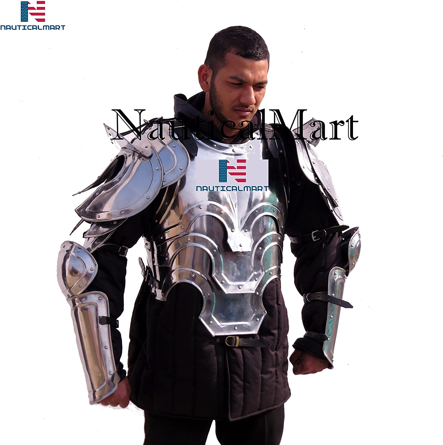 Amazon com: LARP Armor - Suit of Armour for SCA Reenactment
