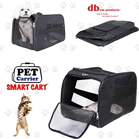 dbest products Pet Smart Carro Carrier, Grande, Negro, Suave ...