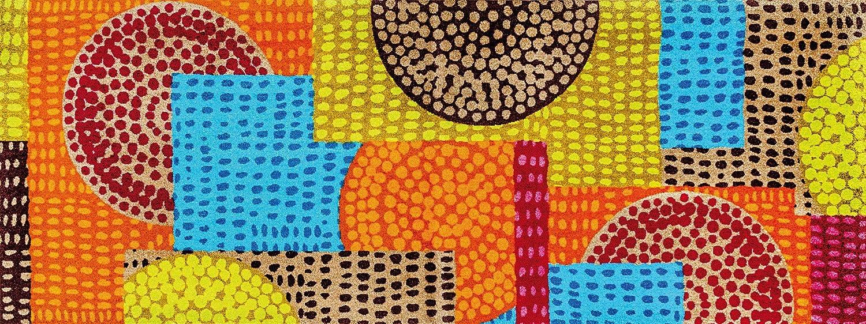 Wash+dry Fußmatte Ethno Pop 70x190 cm