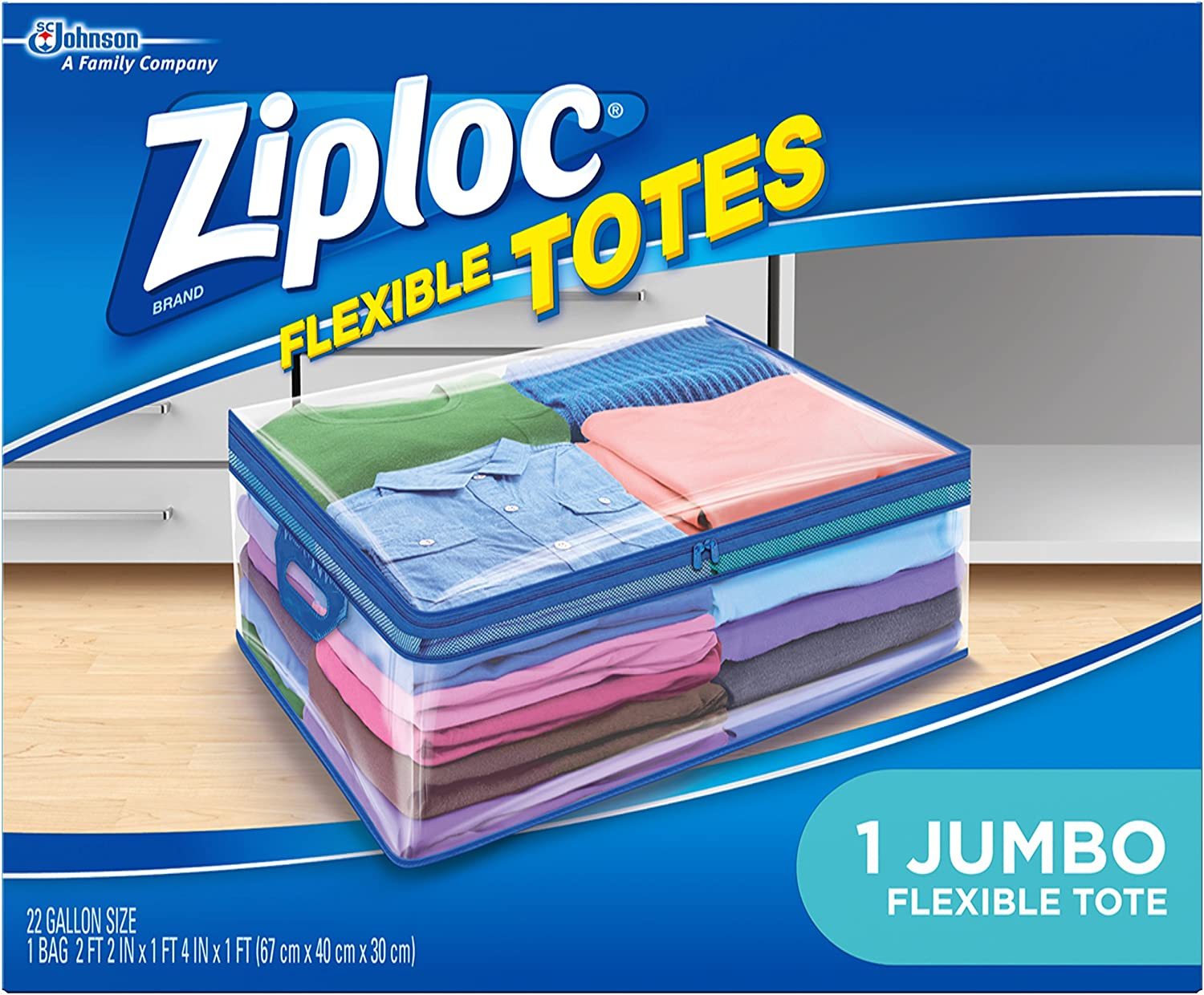 Ziploc Storage Bags for Clothes, Flexible Totes for Easy and Convenient Storage, 1 Jumbo Bag: Health & Personal Care