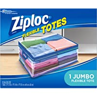 Ziploc Storage Bags for Clothes, Flexible Totes for Easy and Convenient Storage, 1 Jumbo Bag
