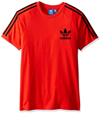 adidas red t shirt mens