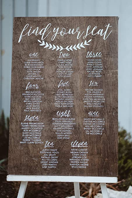 Wedding Seating Chart Rustic Wedding Decor Seating Chart